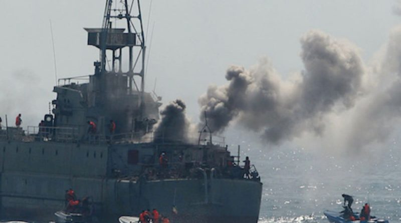 Itan hits own ship with rockets