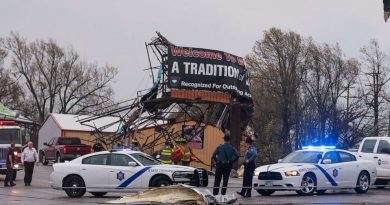 Wreckage After Strong Storms Struck Central Tennessee